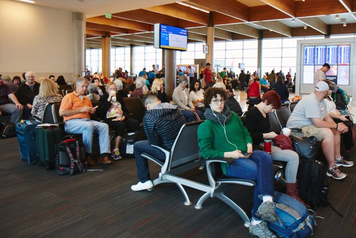 Southwest Airlines passengers at Dallas Love Field. (Image: Southwest)
