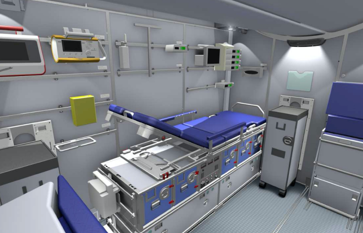 Lufthansa's patient transport compartment contains lie-flat bed you want to avoid (Image: Lufthansa)