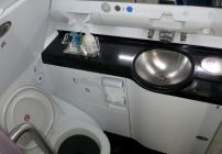 A near spotless Korean Air lavatory on a recent Seoul-Atlanta A380 flight (Photo: Chris McGinnis)