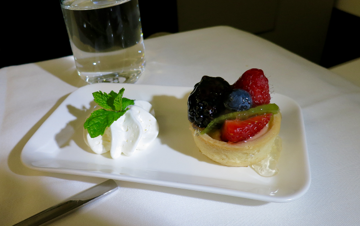 A nice light berry tart for dessert. (Chris McGinnis)
