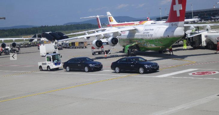Tarmac transfers at ZRH via Mercedes-Benz (Chris McGinnis)