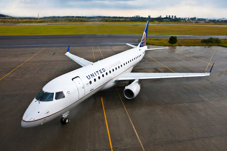 A new United Embraer 175. (Image: United)
