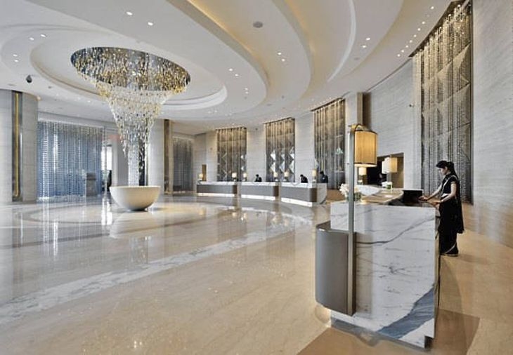 Lobby of the new JW Marriott in Mumbai. (Image: Marriott)