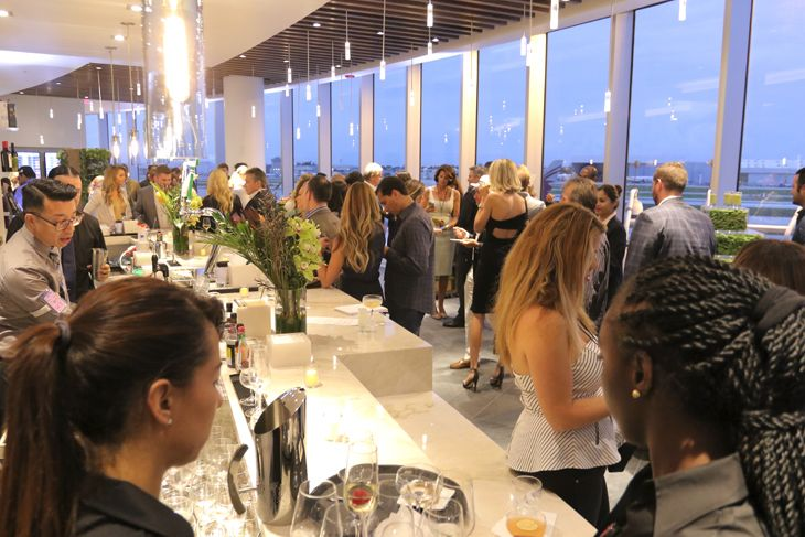 Gala opening celebration at the MIA Centurion Lounge. (Image: American Express)