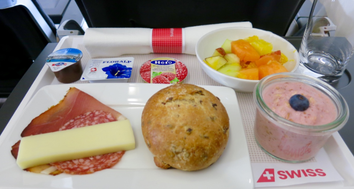 A very Euro breakfast: Meat, cheese, bread, fruit and bircher meusli (Chris McGinnis)