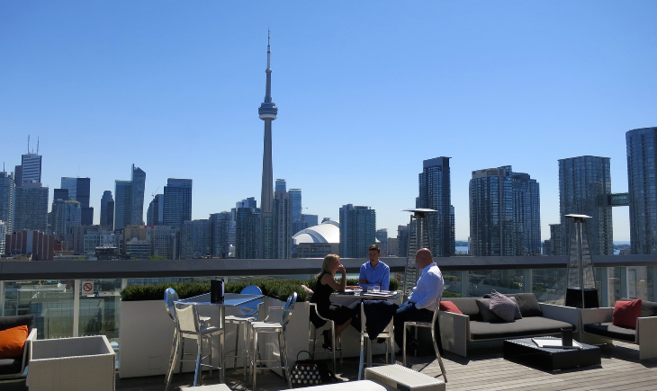 View from the roof of the Thomspon Hotel Toronto (Chris McGinnis)