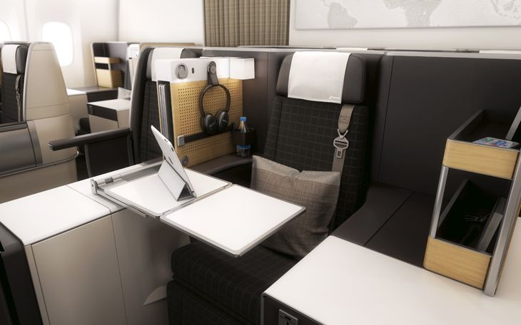Another view of business class seating. (Image: SWISS)