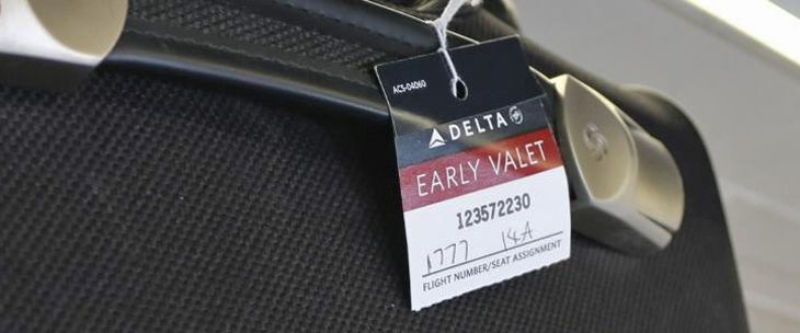 Delta says its Early Valet service is a hit with passengers. (Image: Delta)