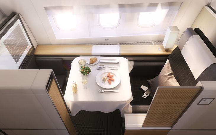 A first-class dining experience in first class.. (Image: SWISS)