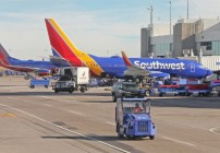 And then there was one: Southwest is standing by its free checked bag policy. (Image: Jim Glab)