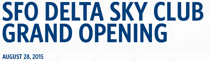 Delta's big new Sky Club opens at SFO this week!