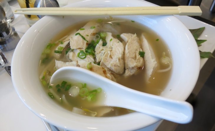 Two types of Vietnamese pho on on the menu- $9 (Photo: Chris McGinnis)