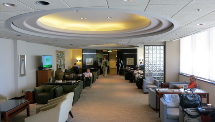 Here's a look at Delta's old Crown Room-style Sky Club on its last day of operation. Soon it will be SFO's USO lounge (Photo: Chris McGinnis)