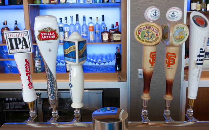 Local beers on tap include two from Anchor Steam (Photo: Chris McGinnis)