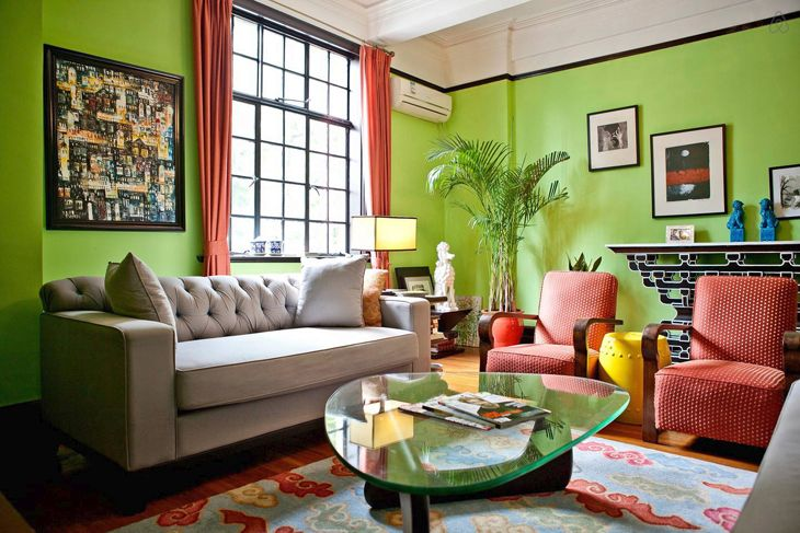 Airbnb lists this art deco apartment in Shanghai at $185 a night. (Image: Airbnb)