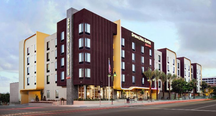 Marriott's new SpringHill Suites in Burbank. (Image: Marriott)