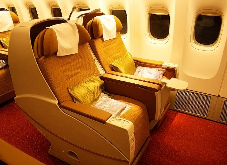 Business class on Air India Boeing 777-200 (Photo: Nisarg Vyas - Wikimedia Commons)