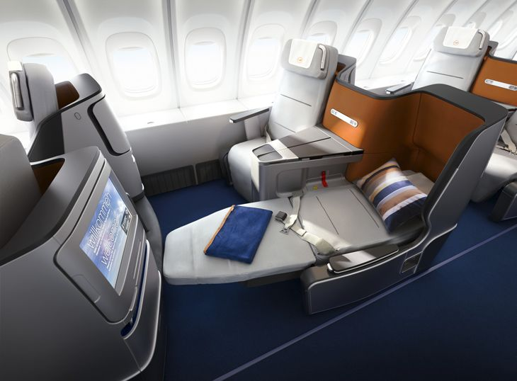 All long-haul Lufthansa business class cabins now have new, fully-reclining seats. (Image: Lufthansa)