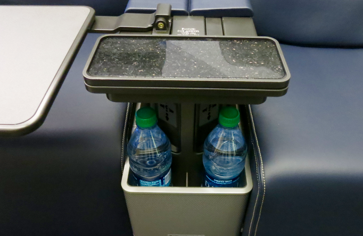 Most unusual feature of the new seat: granite-topped cocktail tables (photo: Chris McGinnis)