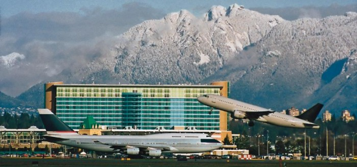 Runway views amidst mountains at Vancouver Airport (Image: Fairmont)