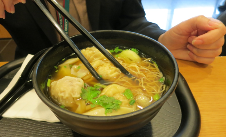 Won Ton soup from the noodle bar. The perfect pre-flight meal! (Photo: Chris McGinnis)