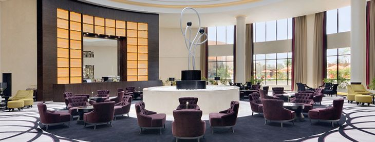 The lobby at the new Movenpick Hotel Riyadh. (Image: Movenpick)