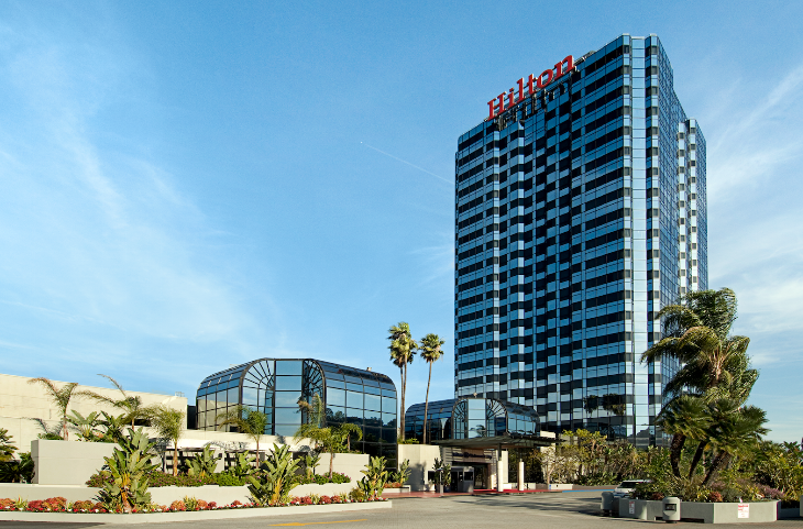 Hilton HHonors get double Delta miles at hotels like the recently renovated Hilton Los Angeles Universal City (Image: Hilton)