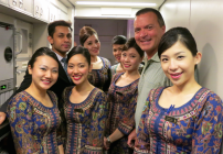 Cutting up with the crew (Nelson, Charlene, Amirah, Mei Xin, Ting Ting) on Singapore Airlines flight to Hong Kong this week - stay tuned for a trip report!