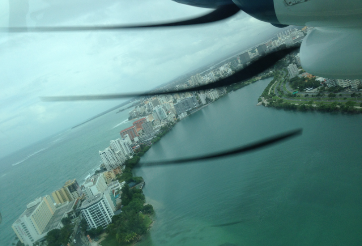 Flying over San Juan's Condado neighborhood (Chris McGinnis)
