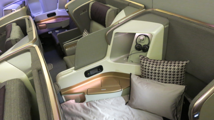 Note how the seatback folds forward to create the flat bed (Chris McGinnis)