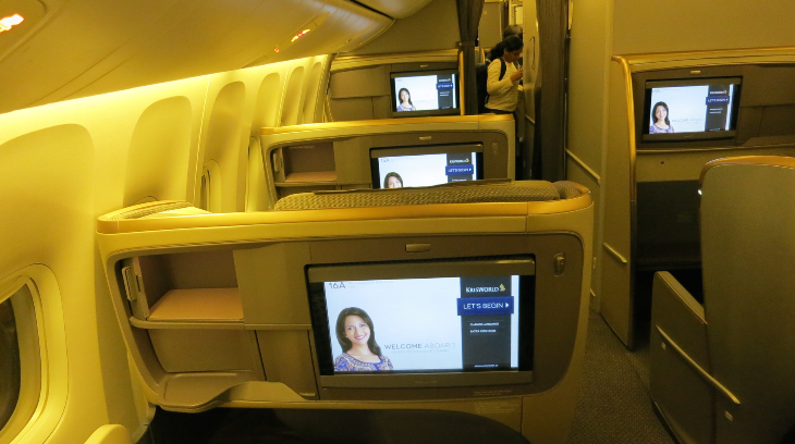 On the 777-300ER, seats are configured 1-2-1 (Chris McGinnis)