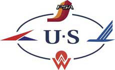 """US Airways """"Heritage Circle"""" combines logos of several airlines"""