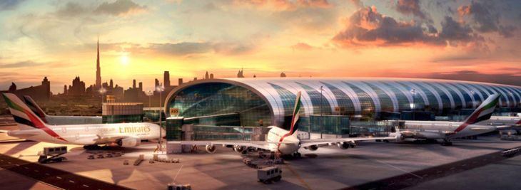 Will Middle Eastern airports like Dubai's see fewer U.S. business travelers this year? (Image: Emirates)