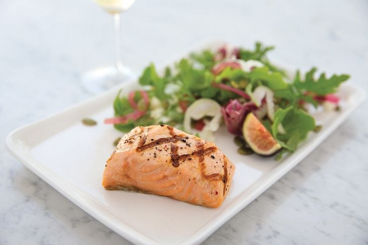 New Napa salad with salmon. (Image: United)