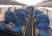 Air Canada Express' larger regional jets, like this Embraet 190, have both economy and business class seating. (Image: Air Canada)
