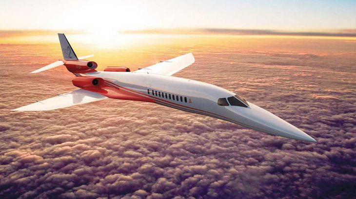 Artist's rendering of the AS2 in flight. (Image: Aerion Corp.)