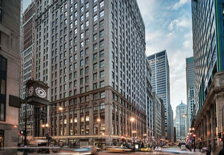 Chicago's newest Residence Inn occupies an historic building in the financial district. (Image: Marriott)