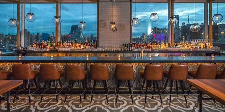 The bar in New York's new Indigo hHotel has sweeping city views. (Image: InterContinental Hotels Group)
