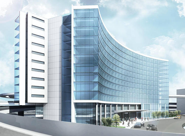 Here's a rendering of what the hotel could look like (SFO)