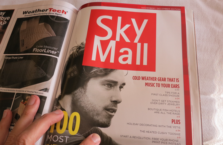 SkyMall is a special section in the back of Hemisheres mag (Chris McGinnis)