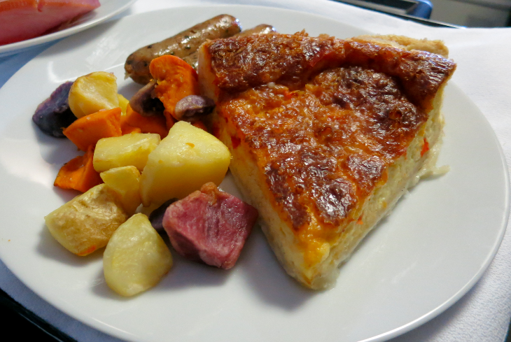 Rustic quiche and potatoes on United p.s. (Chris McGinnis)