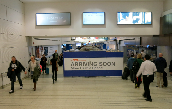 New dining and retail outlets under construction in EWR Terminal C (Chris McGinnis)