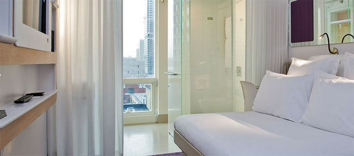 "A premium queen ""cabin"" at the Yotel in New York City. (Image: Yotel)"