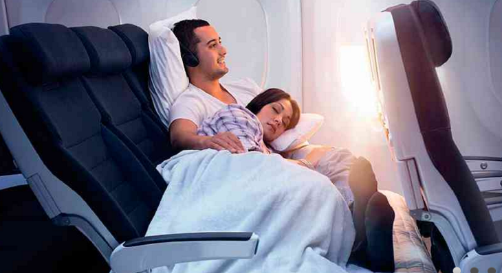 Air New Zealand's Skycouch (Image: Air New Zealand)
