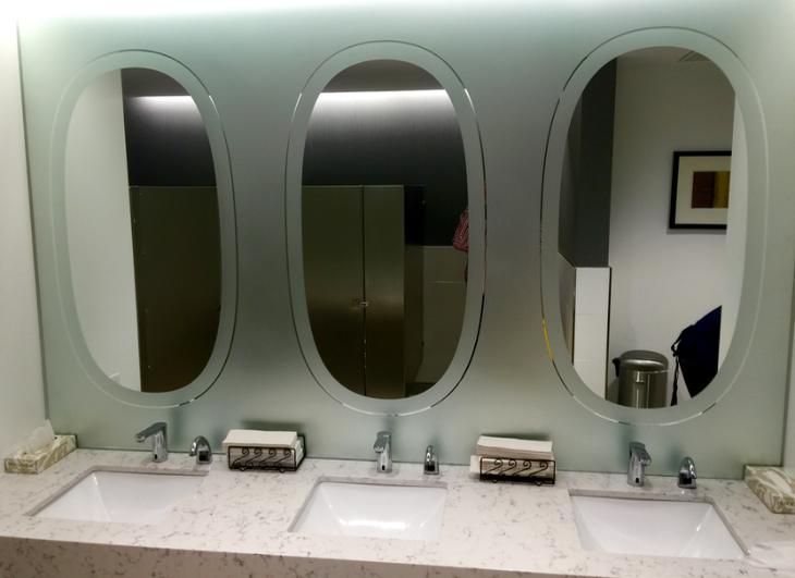 Have you seen these clever airplane window-style mirror? Scroll down to learn where we saw them (Chris McGinnis)