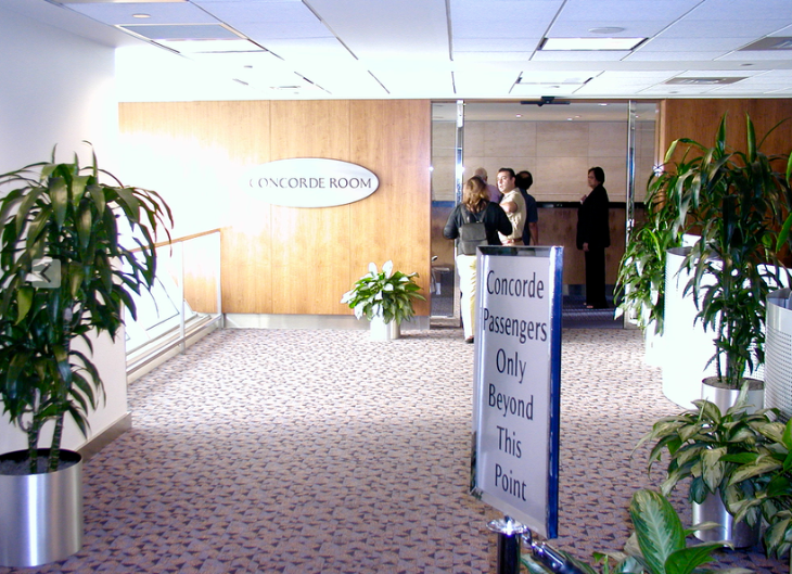 Entrance to the clubby Concorde Room at JFK (Chris McGinnis)