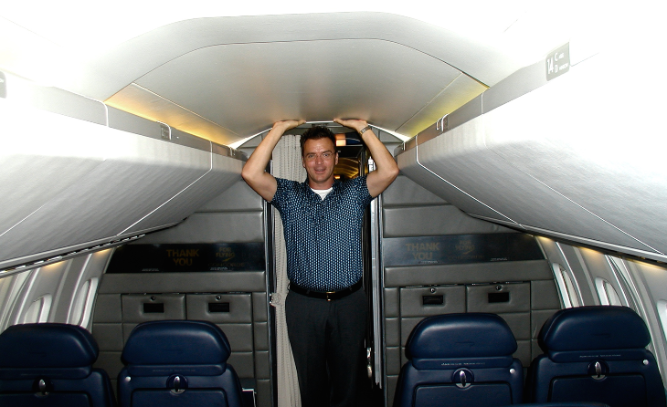 I'm 6 feet tall and my head almost touches the ceiling on the Concorde (Chris McGinnis)