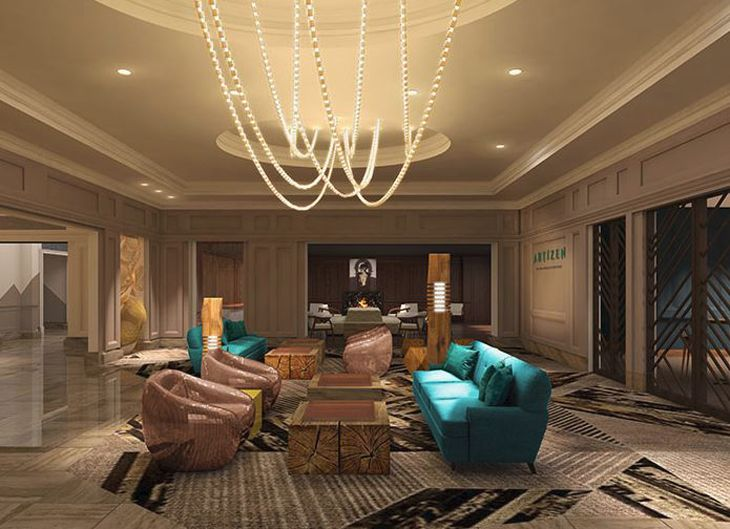 Part of the lobby area at The Ca,by, formerly the Phoenix Ritz-Carlton. (Image: The Camby)
