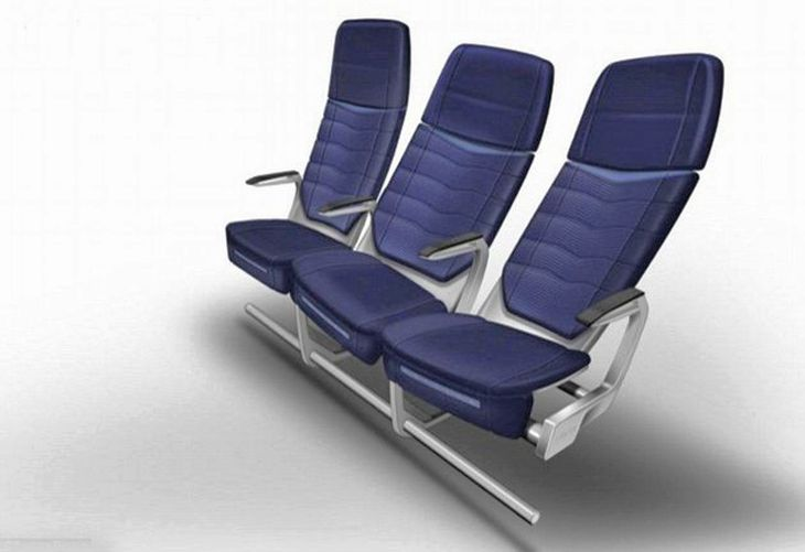 Newly designed airline seat twists as you move. (Image: Factorydesign)