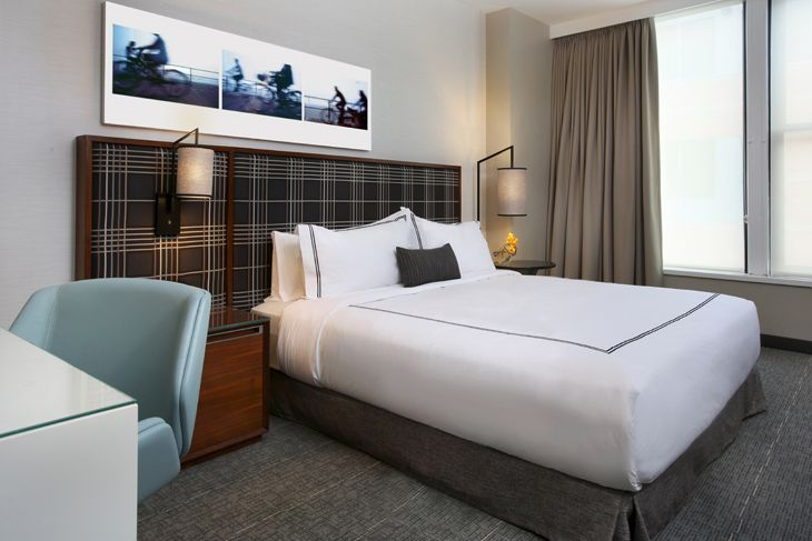 Guest room at Boston's newest hotel, The Godfrey. (Image: The Godfrey)